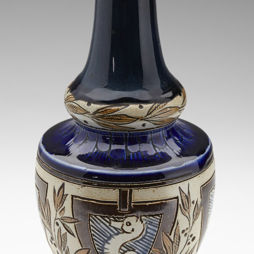 DOULTON LAMBETH PARKER VASE Dated 1884