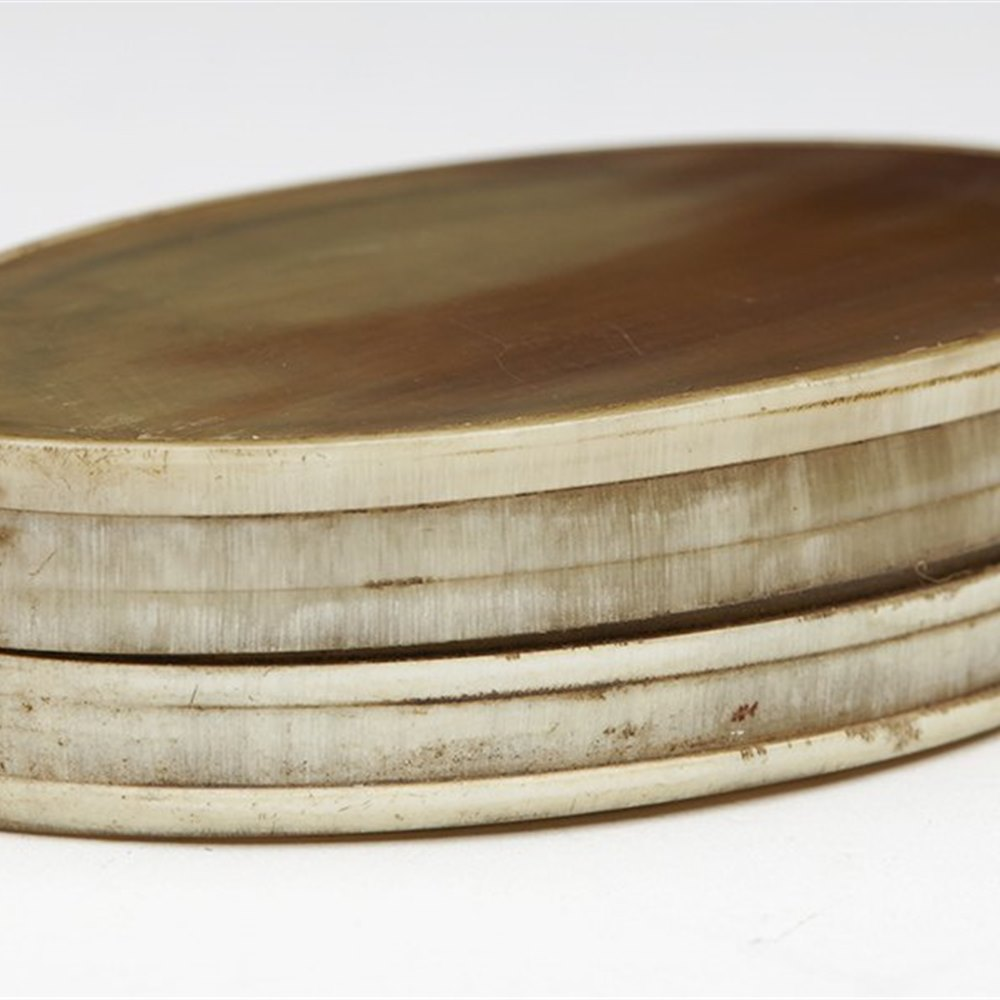 HORN LIDDED SNUFF BOX 19th C. Dates from the 19th century