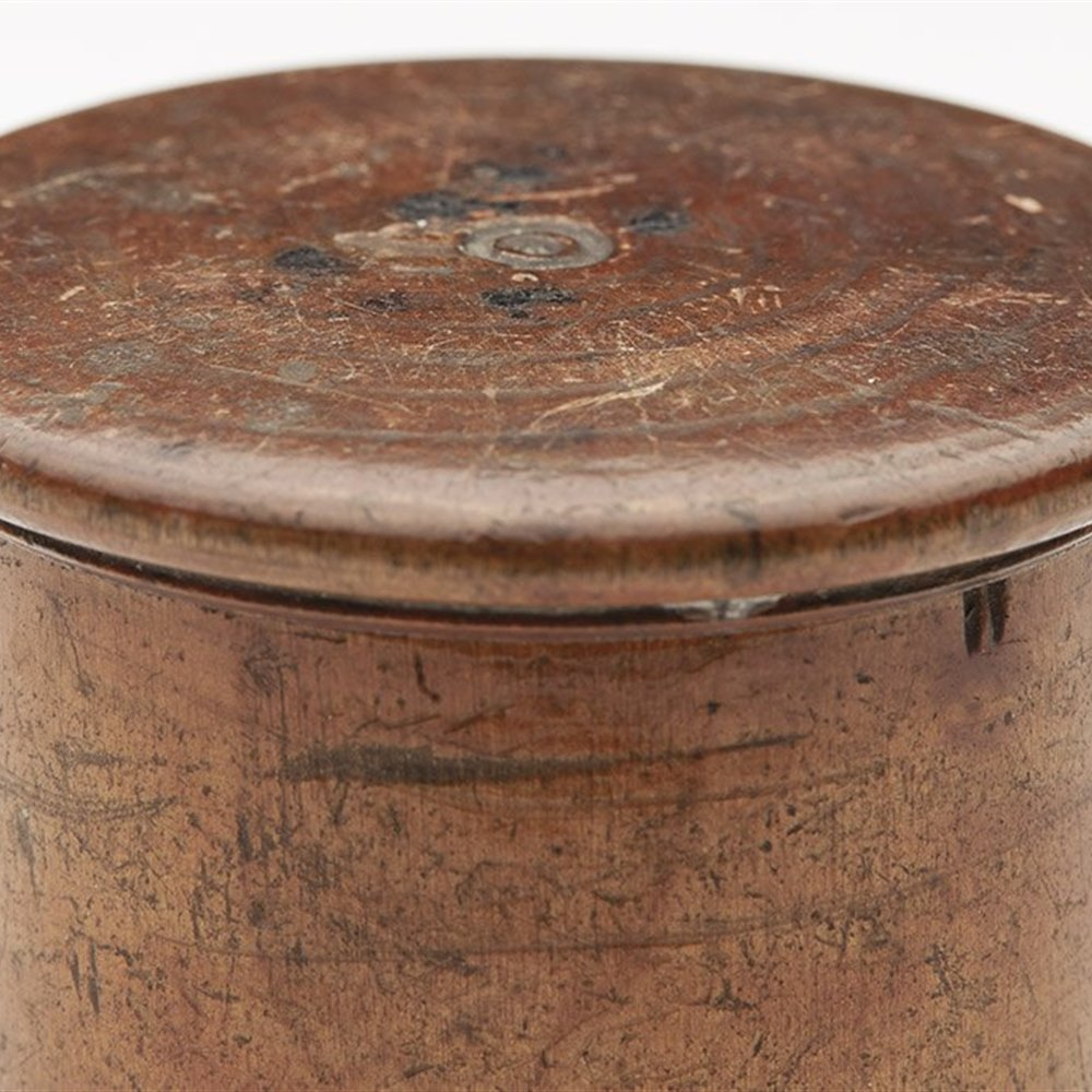 TREEN MEDICINE POT 19TH C. Dates from the 19th century