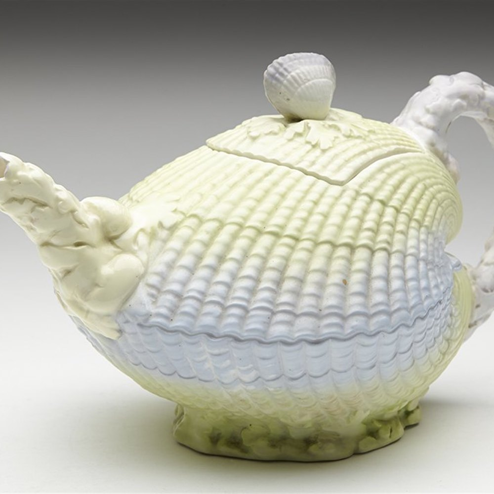 WILLIAM BROWNFIELD CLAM SHELL TEAPOT Dated 13th October 1883
