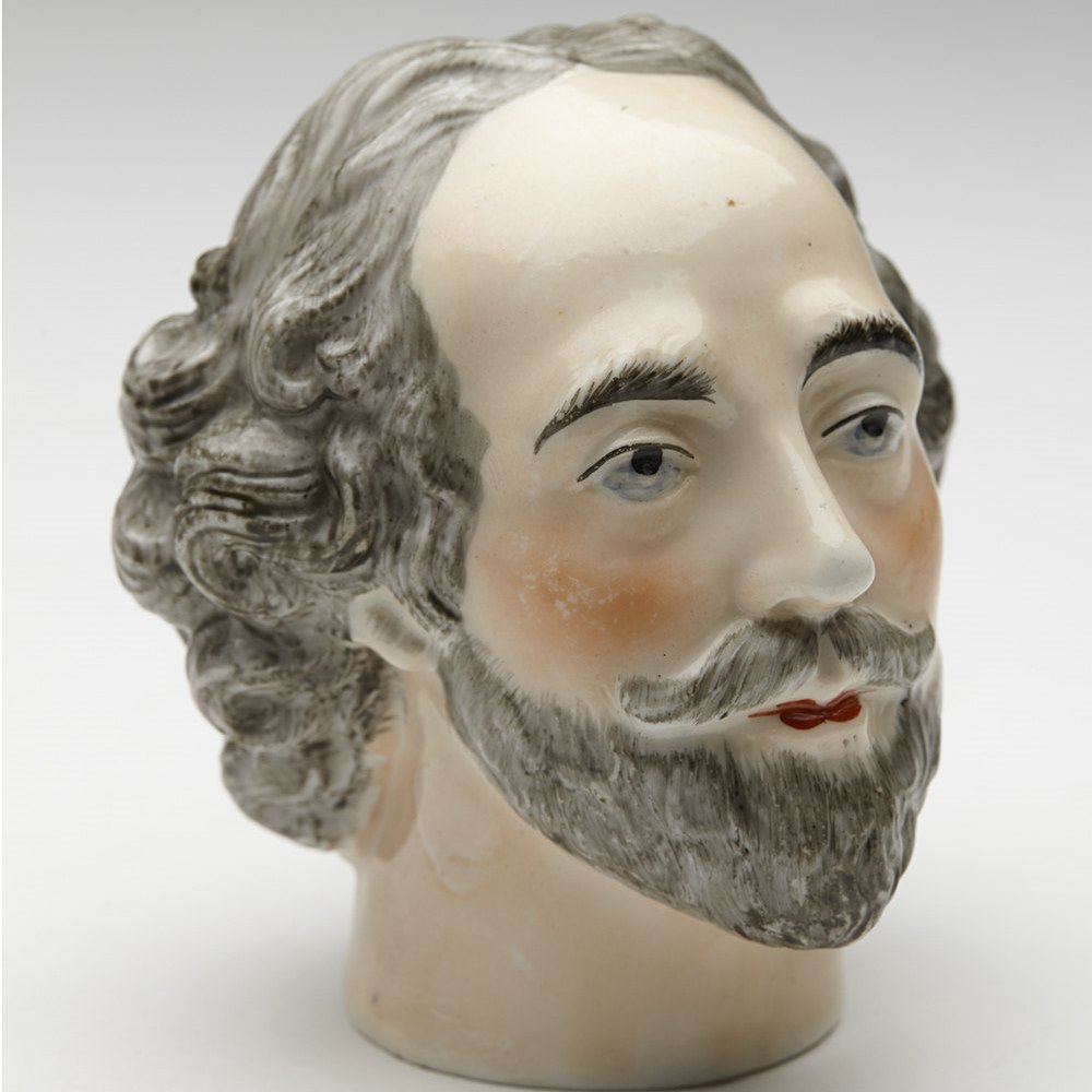 RARE PORCELAIN WILLIAM SHAKESPEARE HEAD Dates from the early 19th or latter 18th century