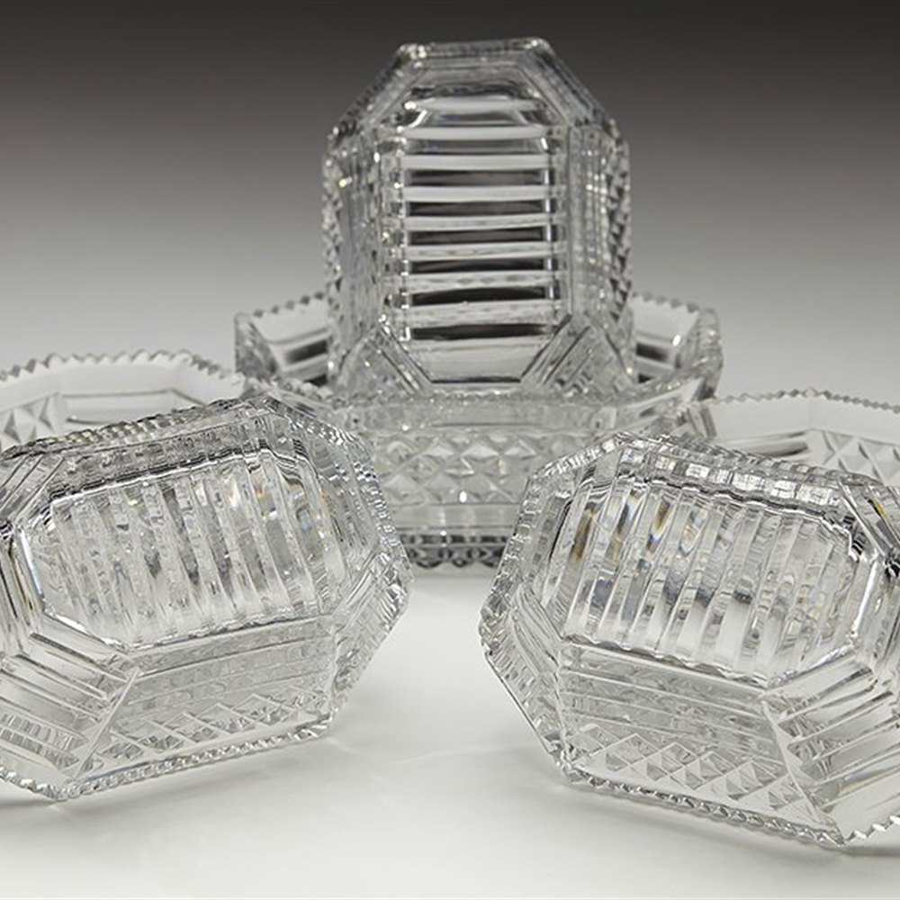 CUT GLASS SALTS c.1830 Believed to date from around 1830