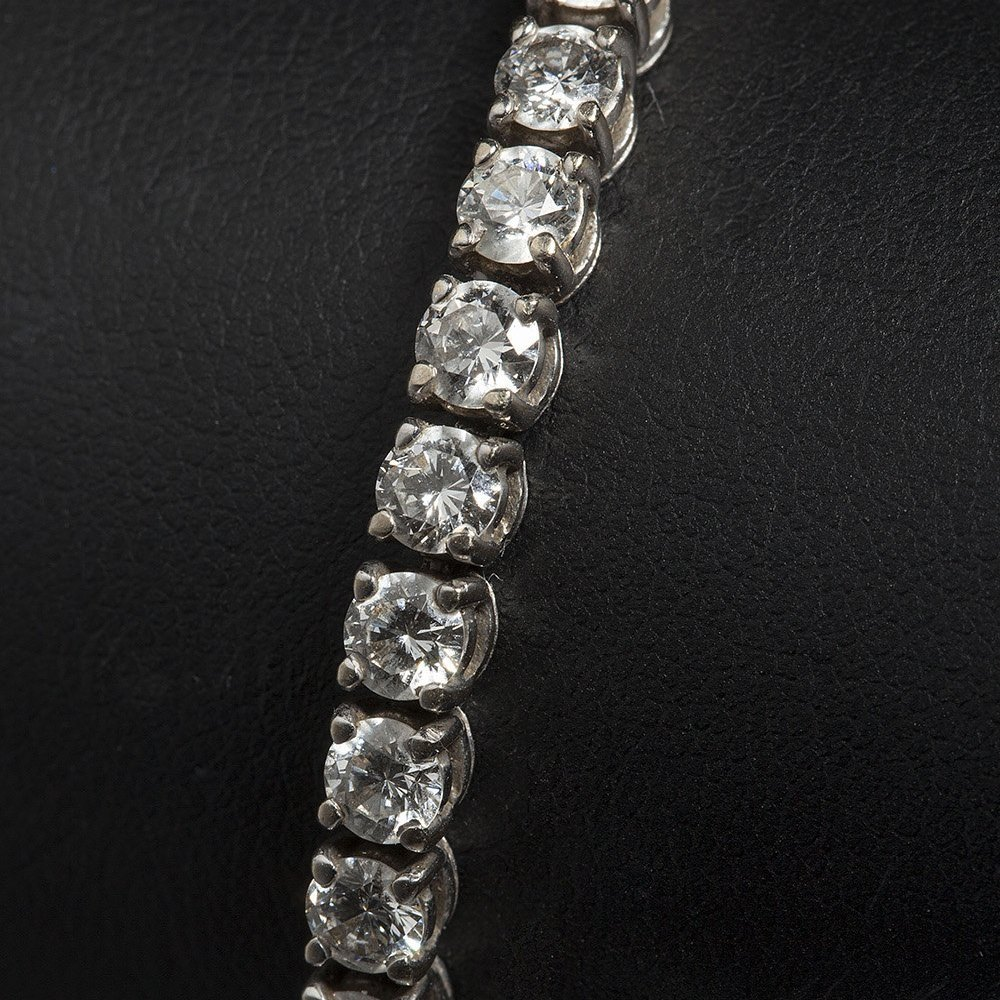 18k White Gold 18k White Gold 9.50cts VS1 Colour F-G Diamond Tennis Bracelet