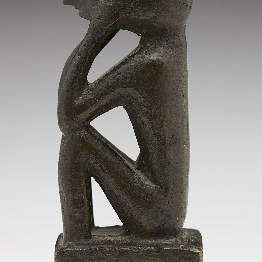 BRONZE TRIBAL FIGURE C.1900 Circa 1900 or possibly earlier