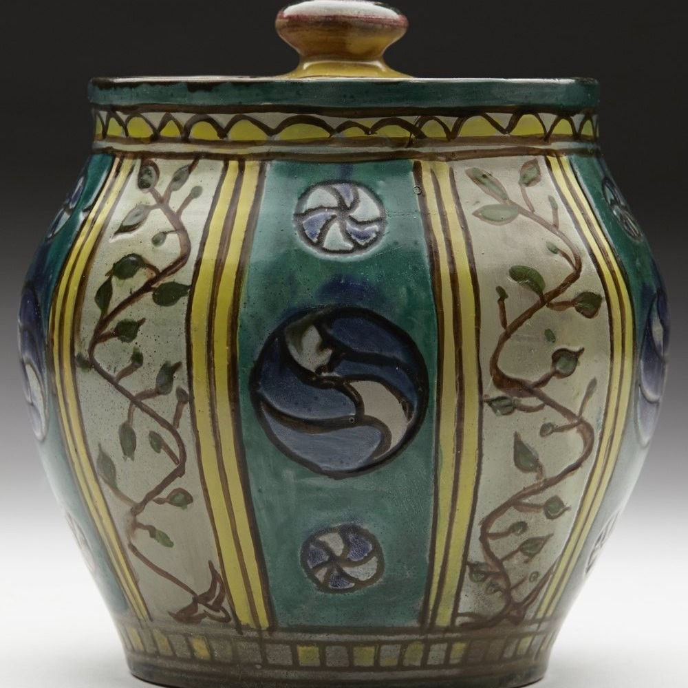 DELLA ROBBIA TOBACCO JAR Dates between 1894 and 1901