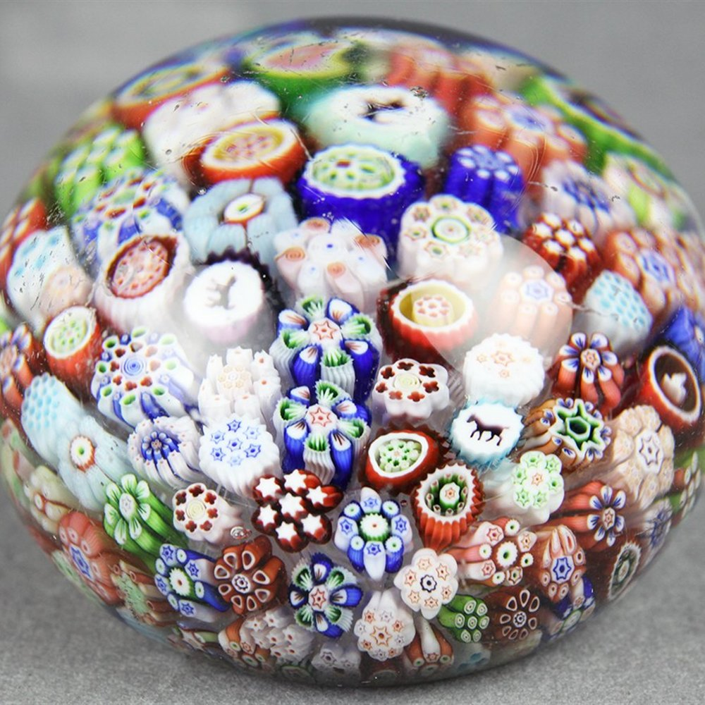 BACCARAT PAPERWEIGHT 1845 - 1855 Dates between 1845 and 1855