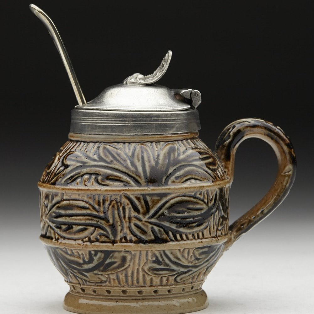 DOULTON MUSTARD POT 1873 Dated 1873