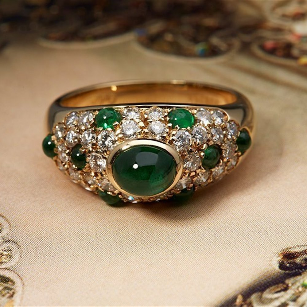 Cartier Colombian Emerald & Diamond Ring