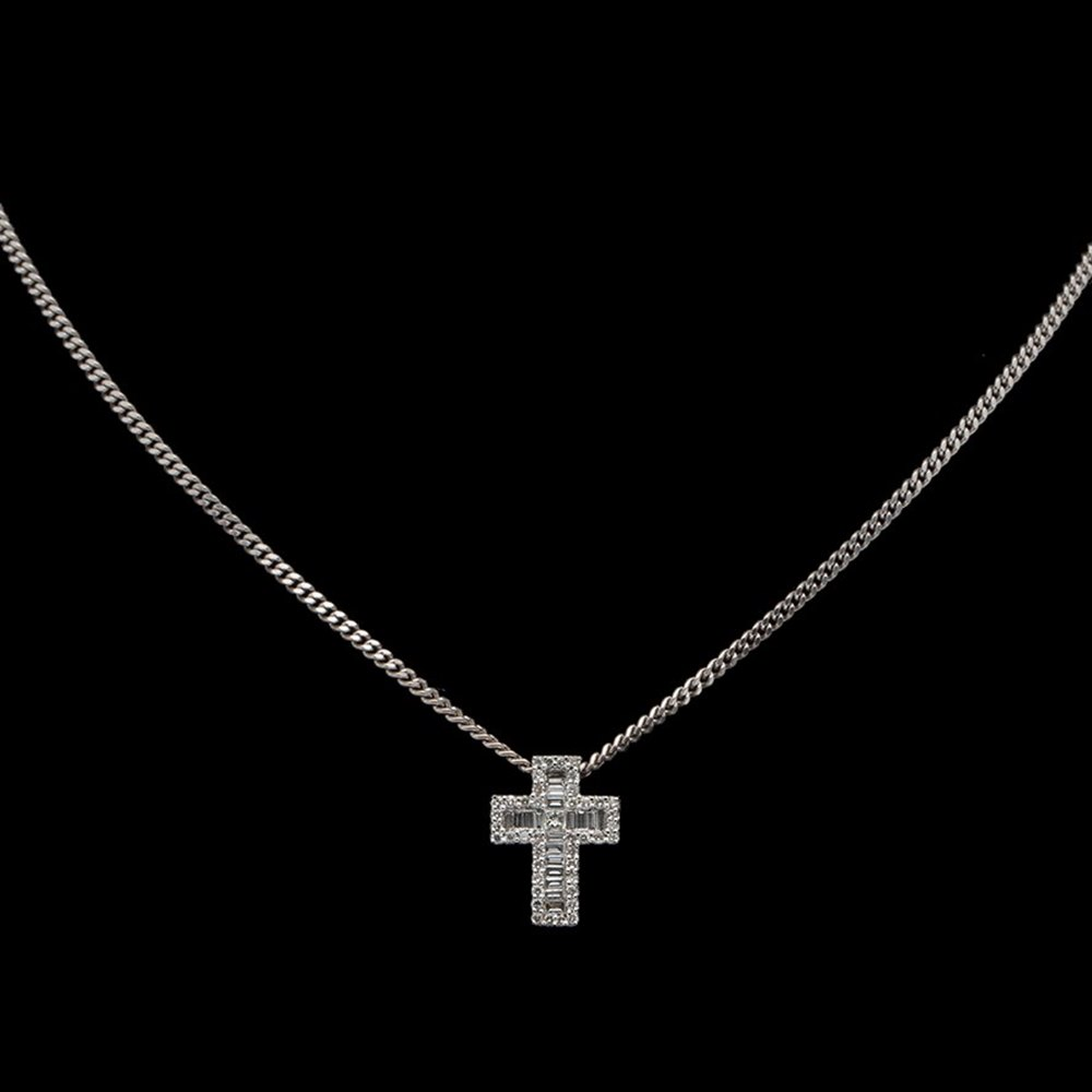 18K White Gold 18K White Gold Diamond Cross