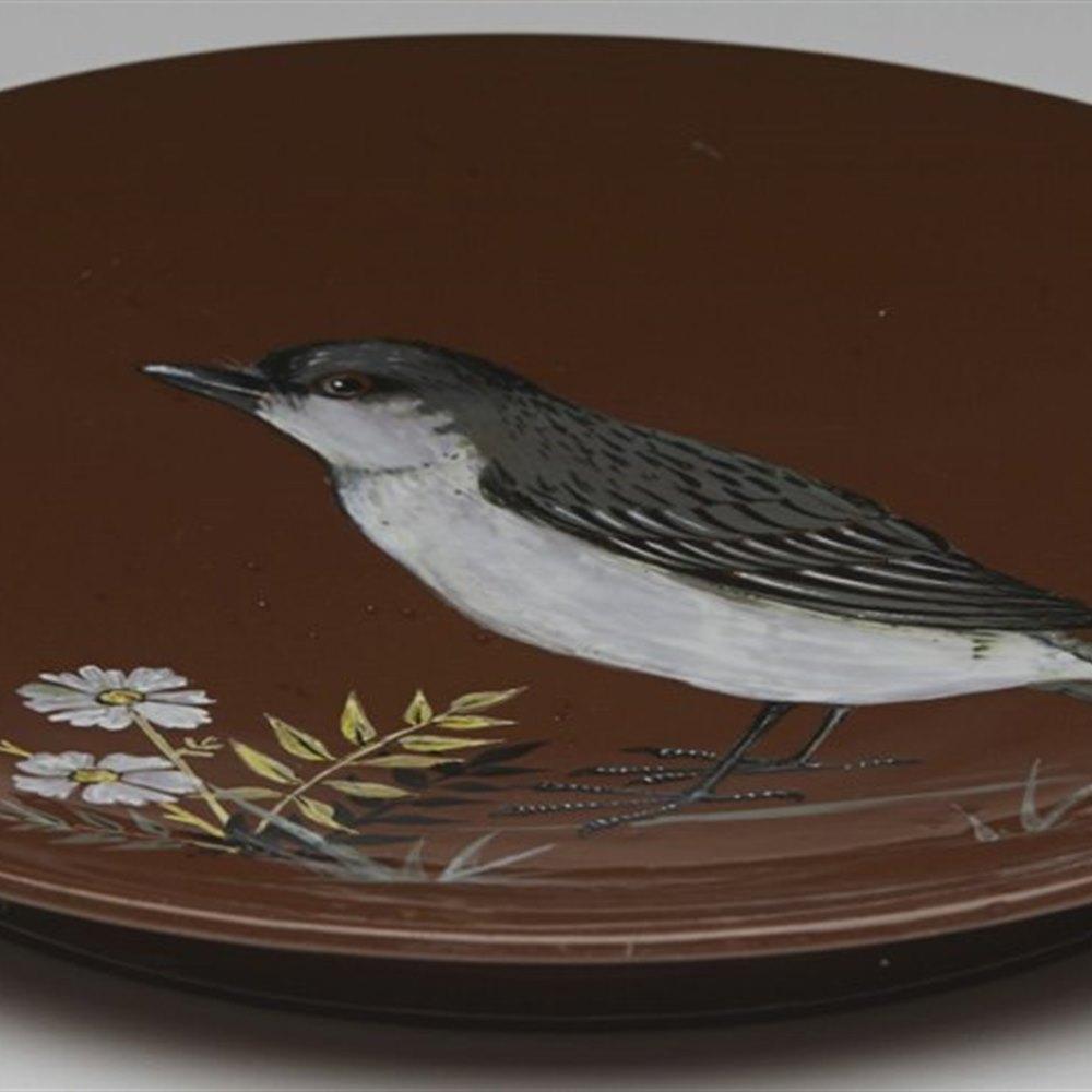 MINTON BIRD PLAQUE C.1880 Circa 1880