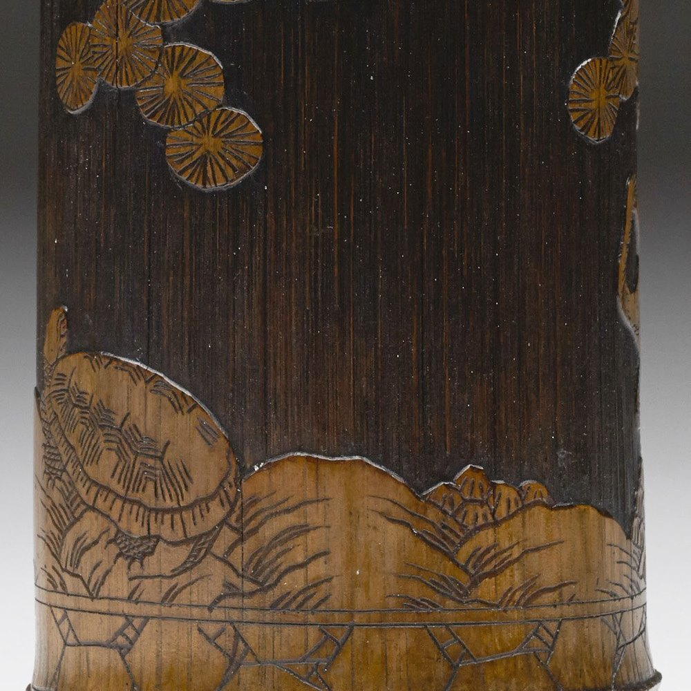 CHINESE BAMBOO BRUSH POT 19th Century