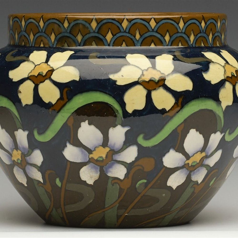 FOLEY INTARSIO VASE c.1899 Registration marks for 1899