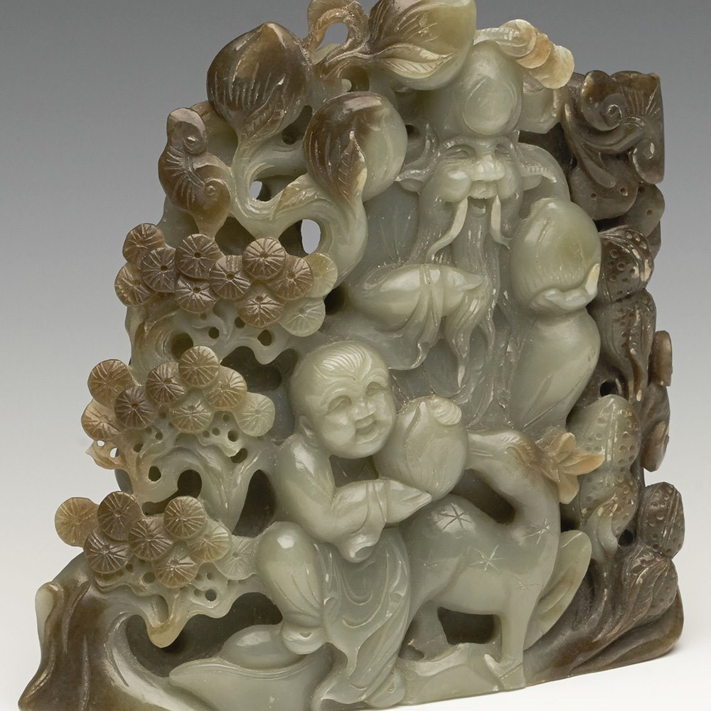 CHINESE JADE SHOULAO 20th Century