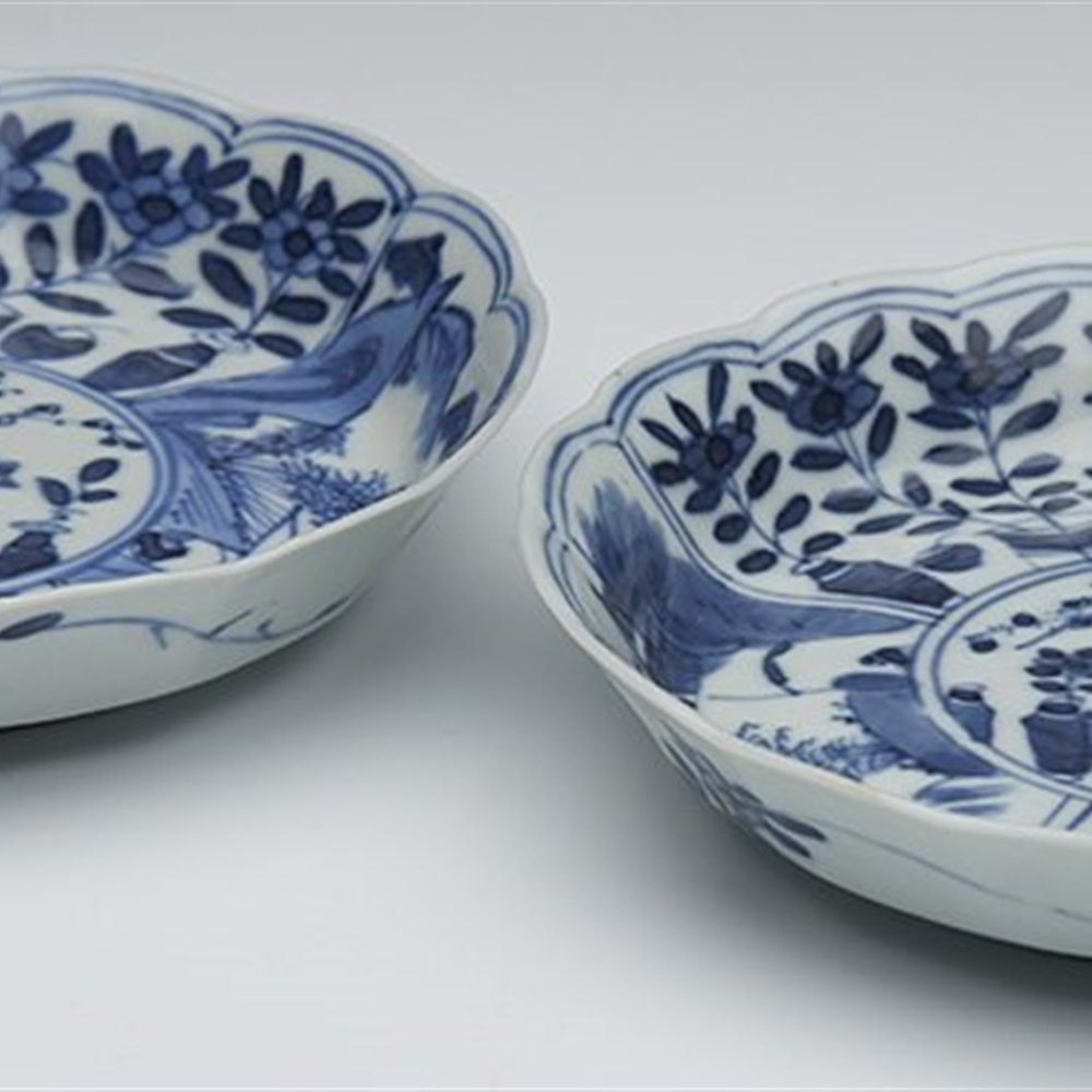 CHINESE KANGXI SAUCER DISHES Kangxi 1662 to 1722