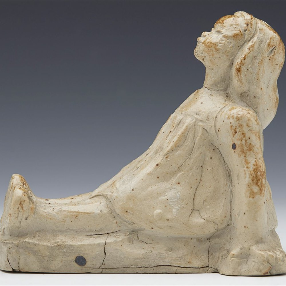SALT GLAZED FIGURE c.1895 Circa 1895