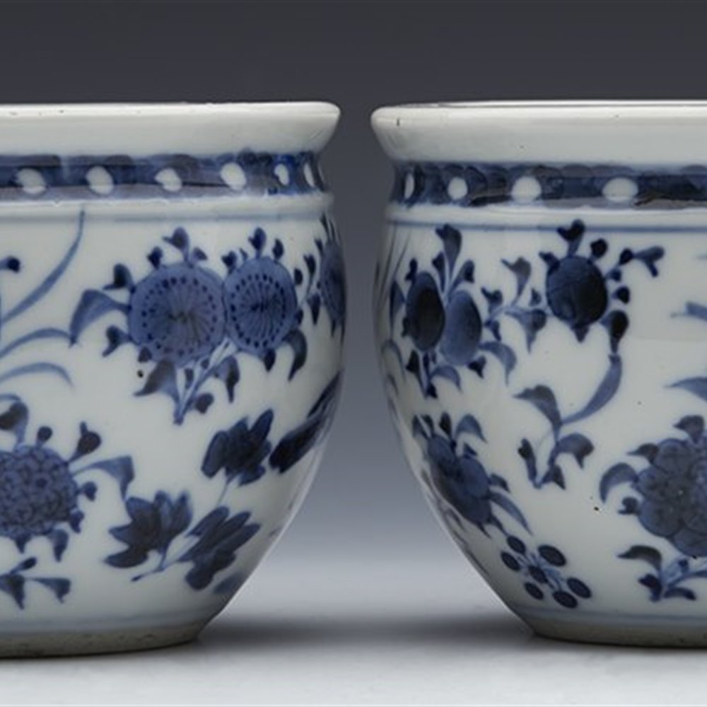 CHINESE MINIATURE BOWLS 19TH C. Qing and believed 19th Century although could be earlier