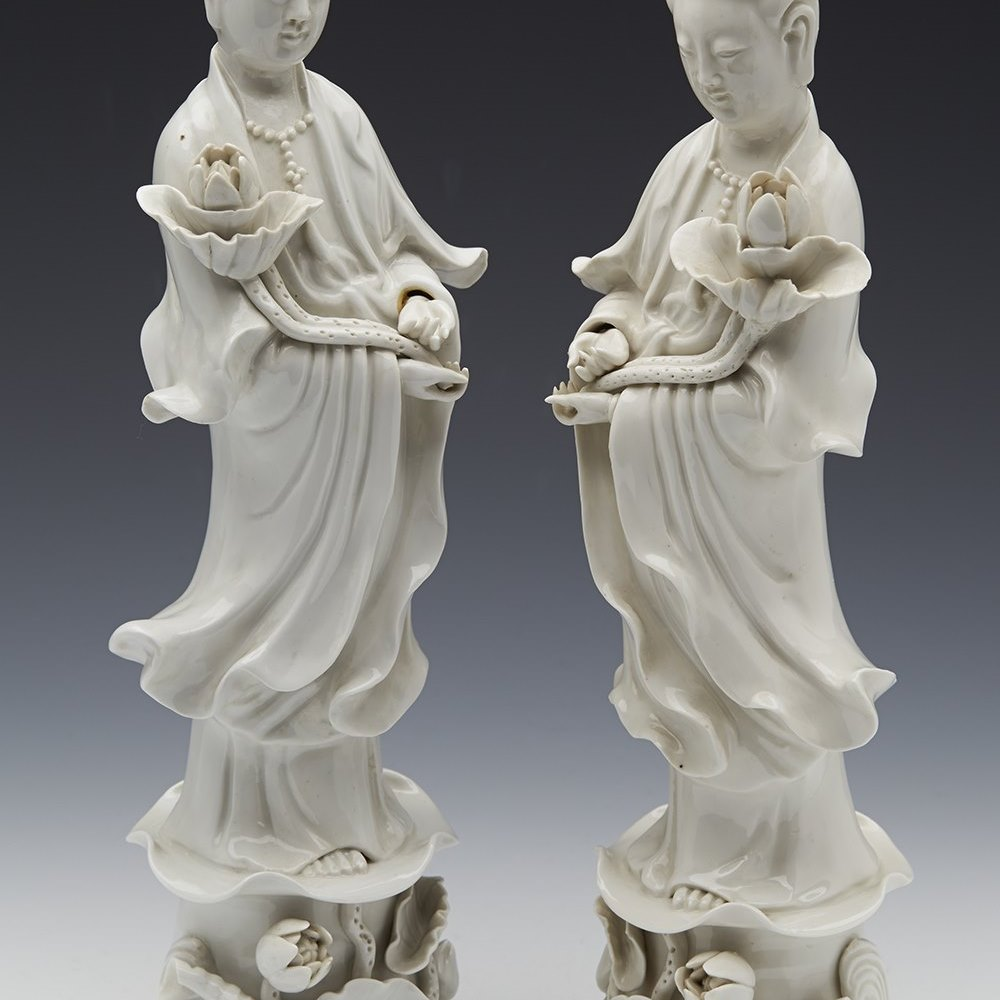 CHINESE GUANYIN FIGURES c.1920 Early 20th century