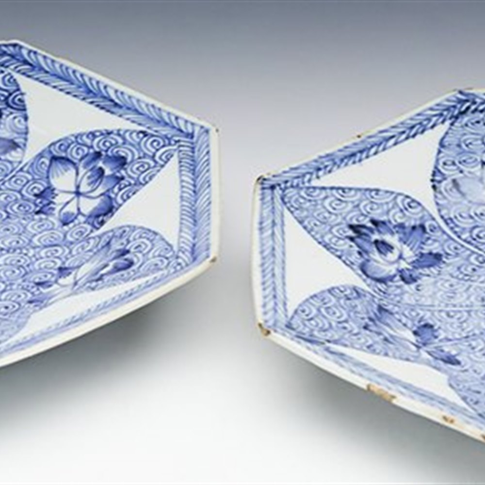 CHINESE KANGXI PLATES Kangxi 1662 - 1722