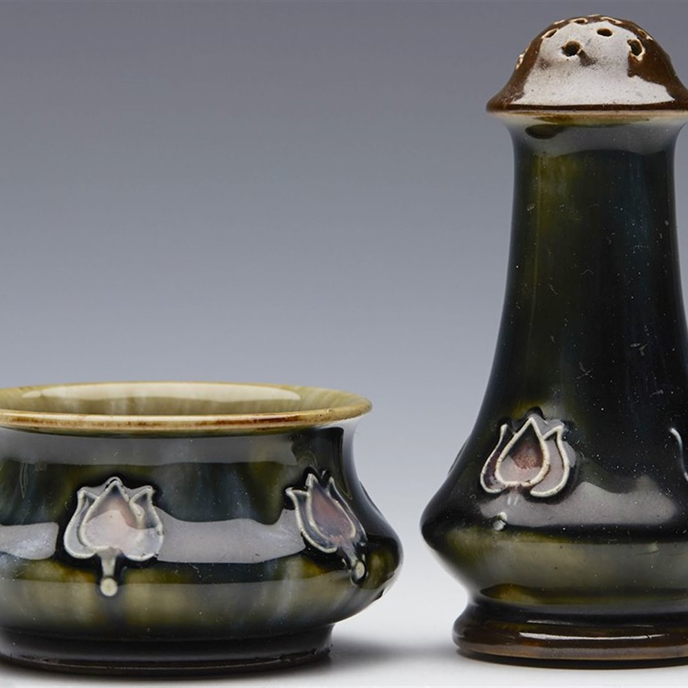 DOULTON LAMBETH SALT & PEPPER Circa 1905