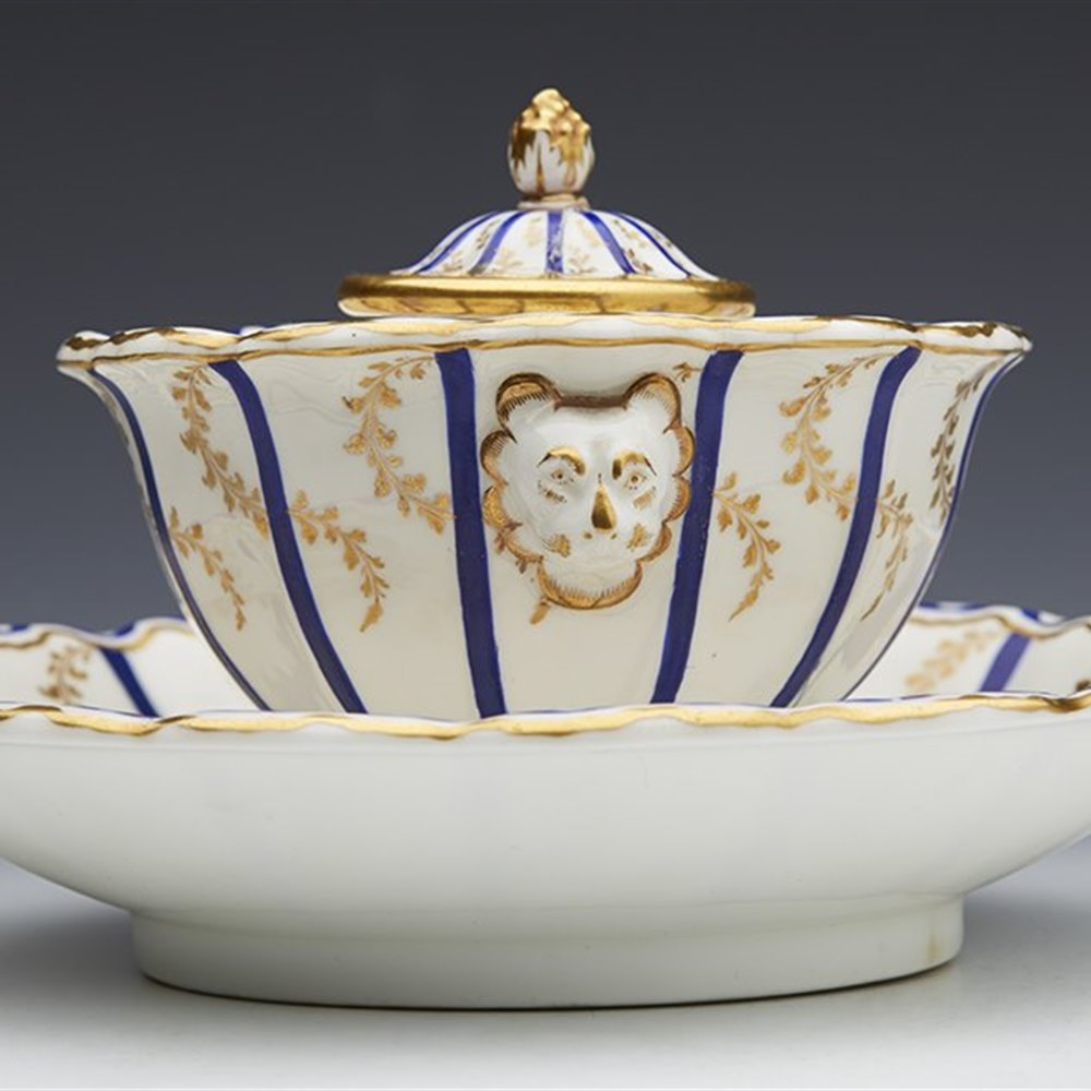 PORCELAIN INKWELL EARLY 19TH C. Early 19th Century
