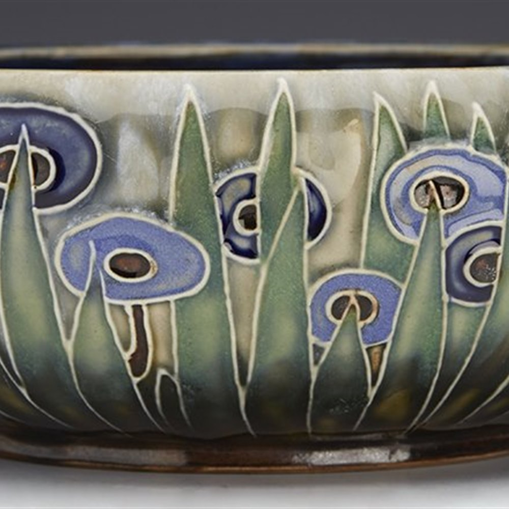 Stunning Art Deco Doulton Lambeth Tubelined Bowl By Ada Tosen C.1920
