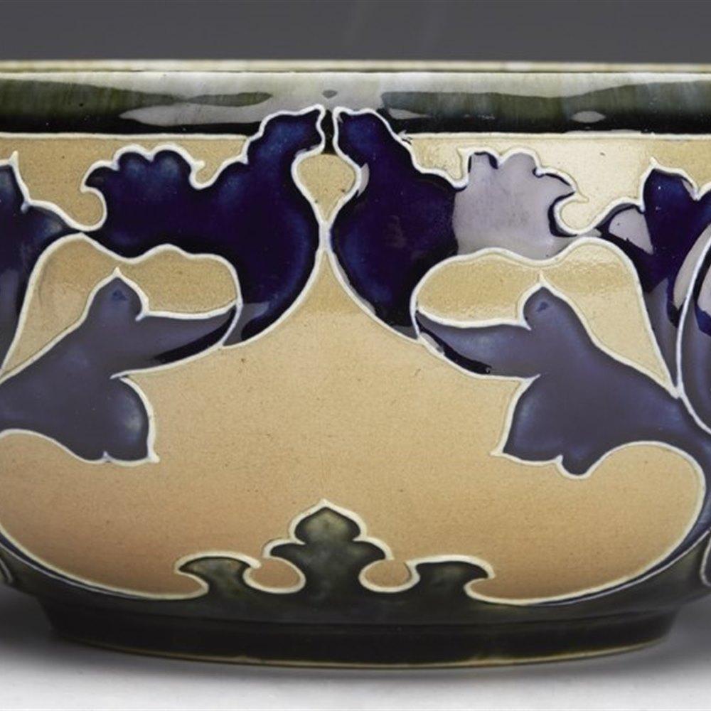 Art Nouveau Doulton Lambeth Art Union Of London Bowl Mark Marshall Design c.1902