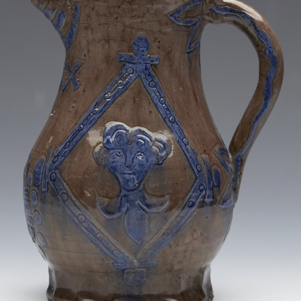 CASTLE HEDINGHAM JUG 19TH C. Dates between 1864 and 1901