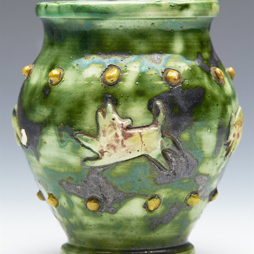 CASTLE HEDINGHAM VASE 19TH C. Dates between 1864 and 1901