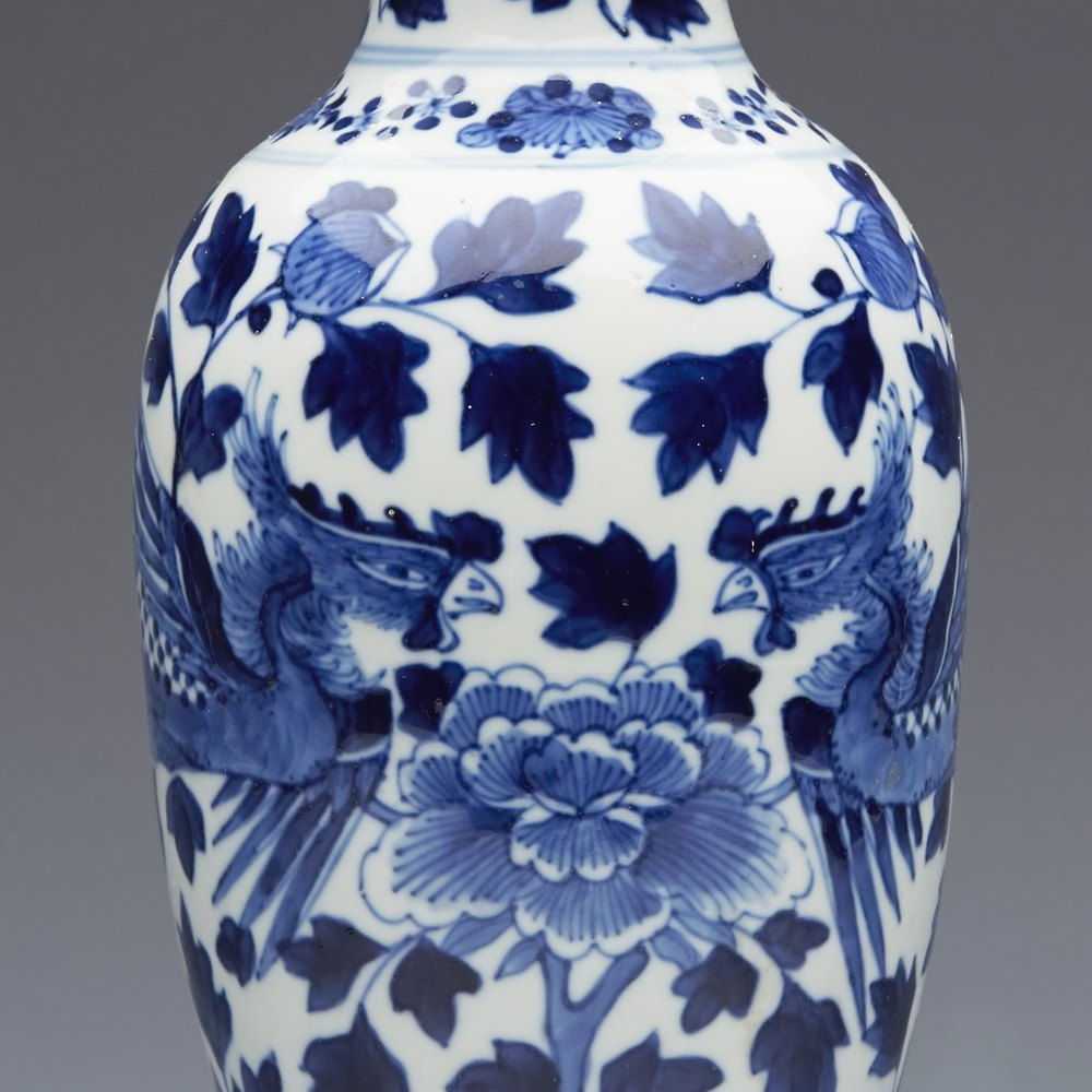 CHINESE KANGXI VASE 18TH/19TH C. Kangxi mark and possibly 18th century and not late than 19th century