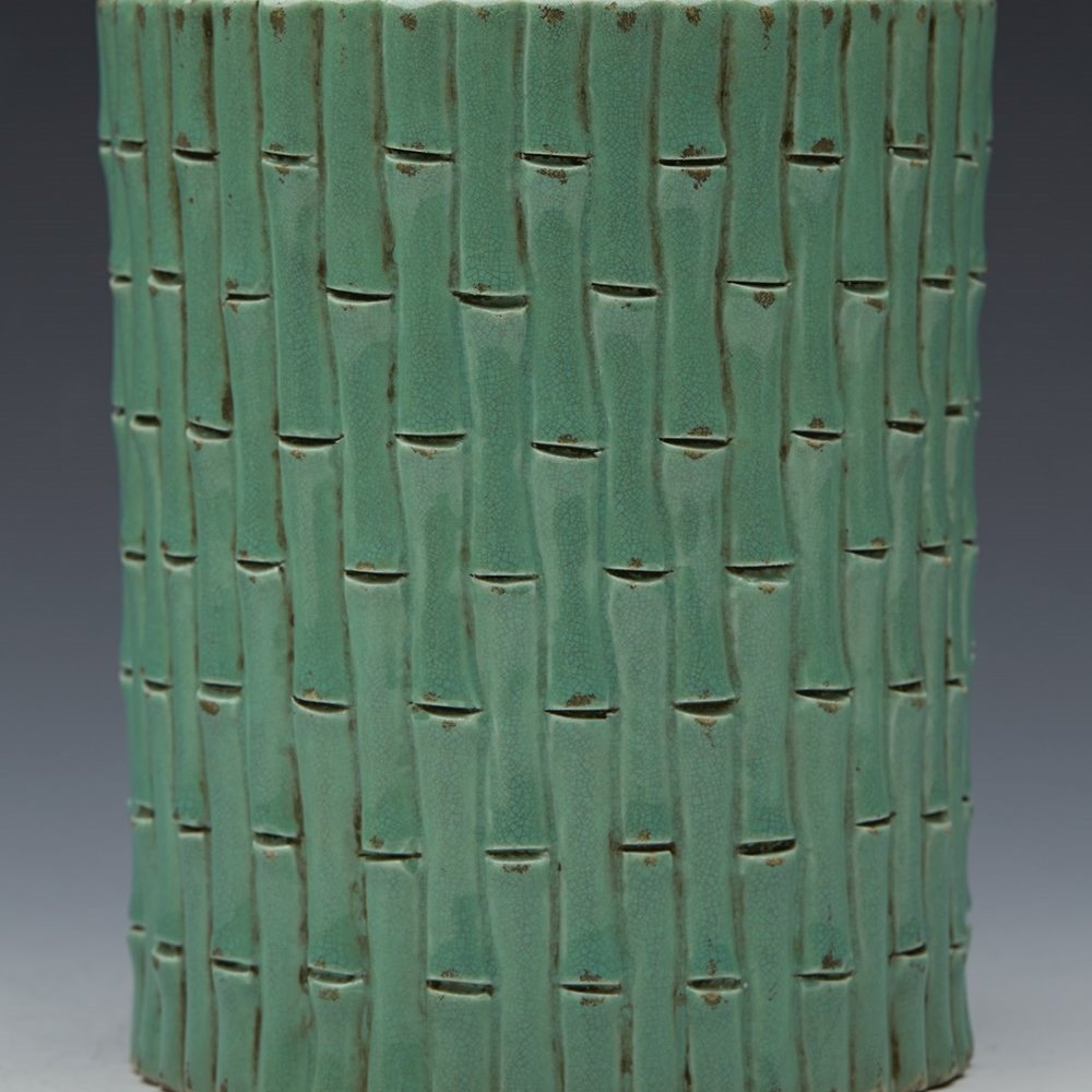 QIANLONG BAMBOO BRUSH POT Qianlong mark but believed to date from the 19th century and certainly no later