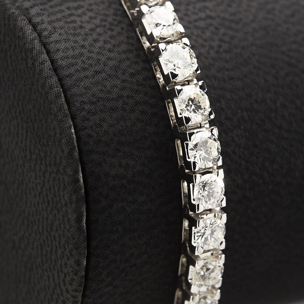 18K White Gold  18K White Gold 8.50cts Diamond Tennis Bracelet