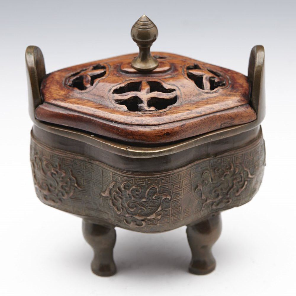 CHINESE BRONZE CENSER 19/20TH C. Believed 19th or 20th century
