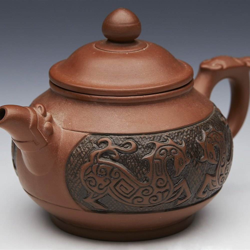ANTIQUE/VINTAGE CHINESE MINIATURE YIXING TEAPOT 19TH/20th ...