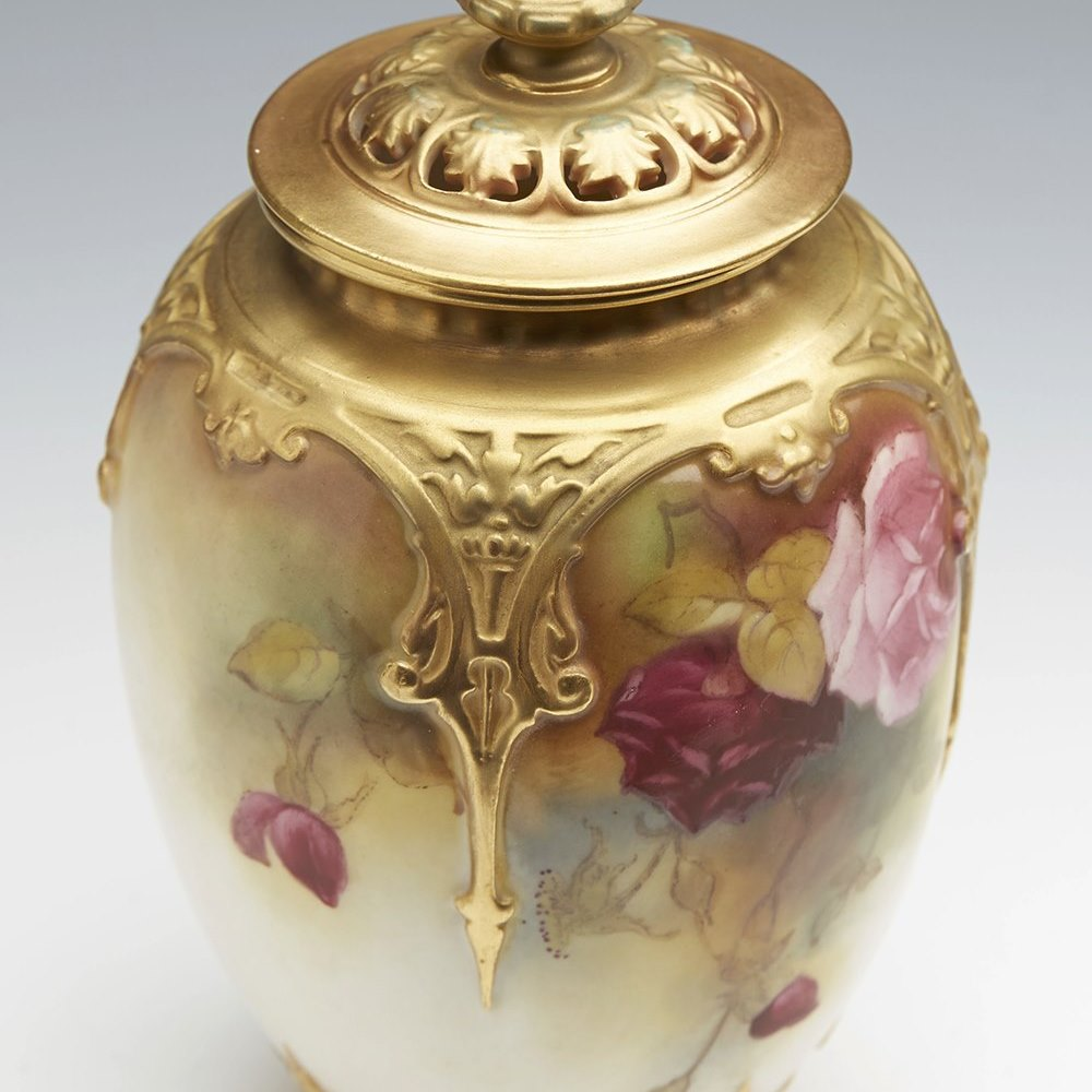 ROYAL WORCESTER VASE c.1918 Date codes for 1918