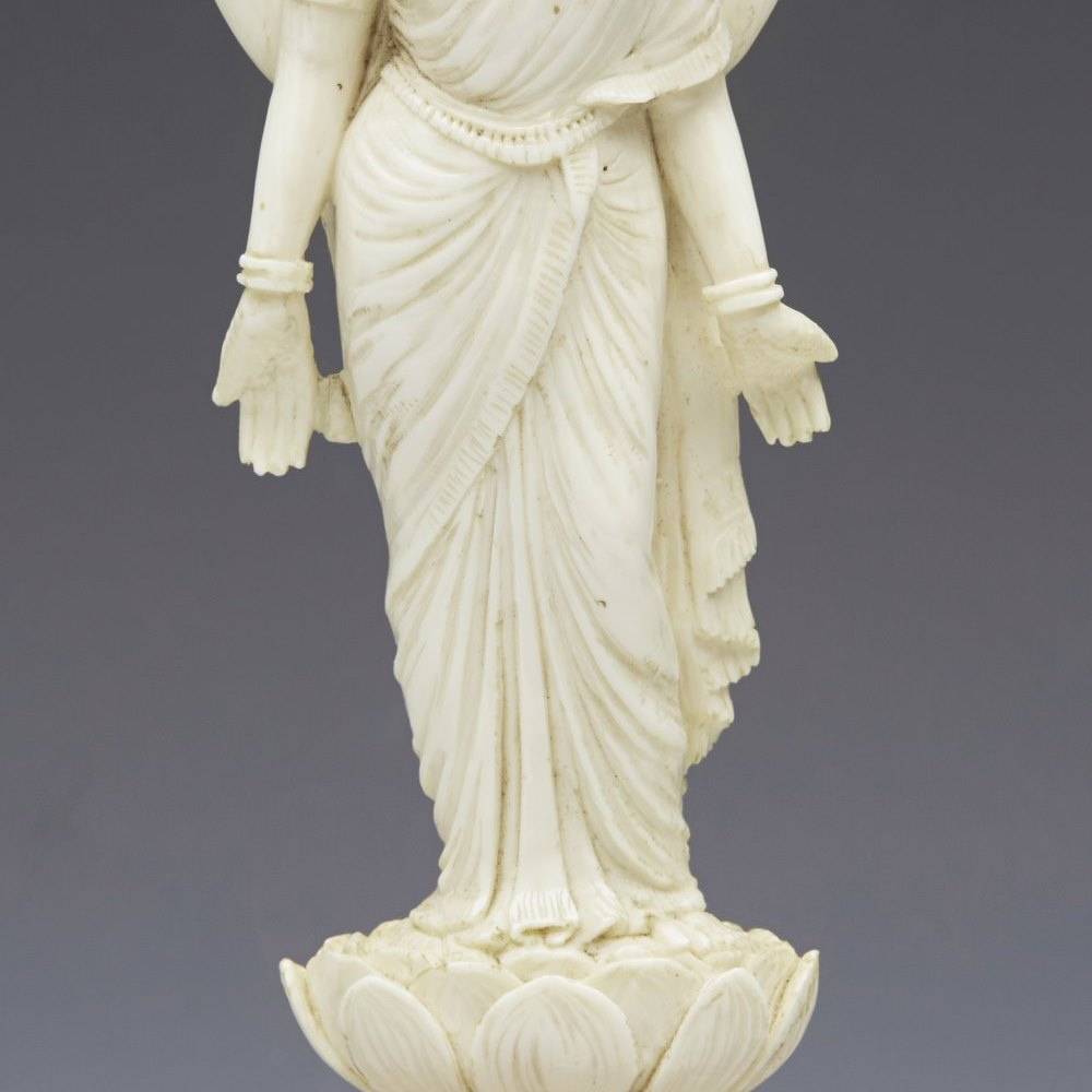 INDIAN IVORY HINDI GODDESS 19th Century