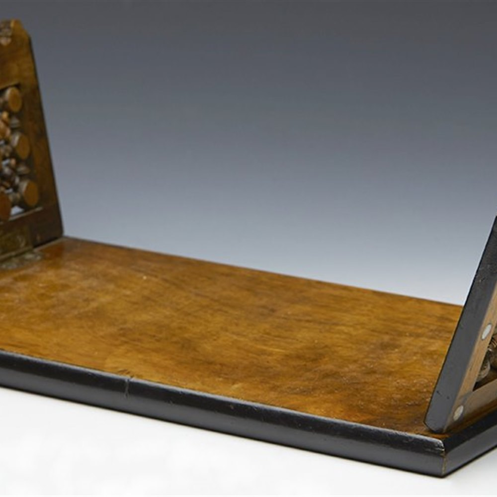 SUPERB ARTS & CRAFTS LIBERTY STYLE FOLDING BOOK STAND LATE 19TH C. Latter 19th Century