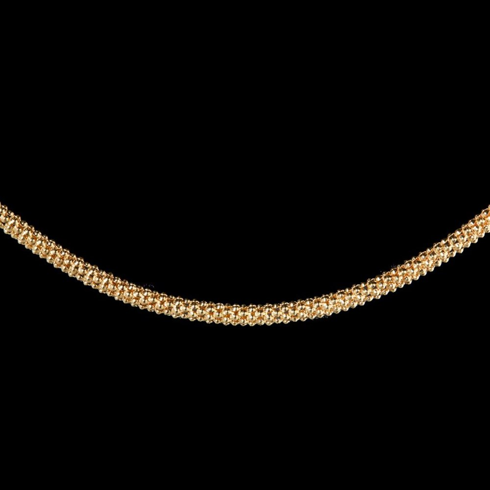 Mappin & Webb 18K Yellow Gold Stylish Textured Chain Necklace
