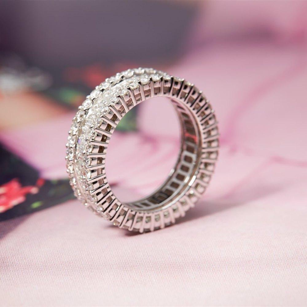 18K White Gold 3.00cts G VS/SI Baguette & Brilliant Cut Diamond ...