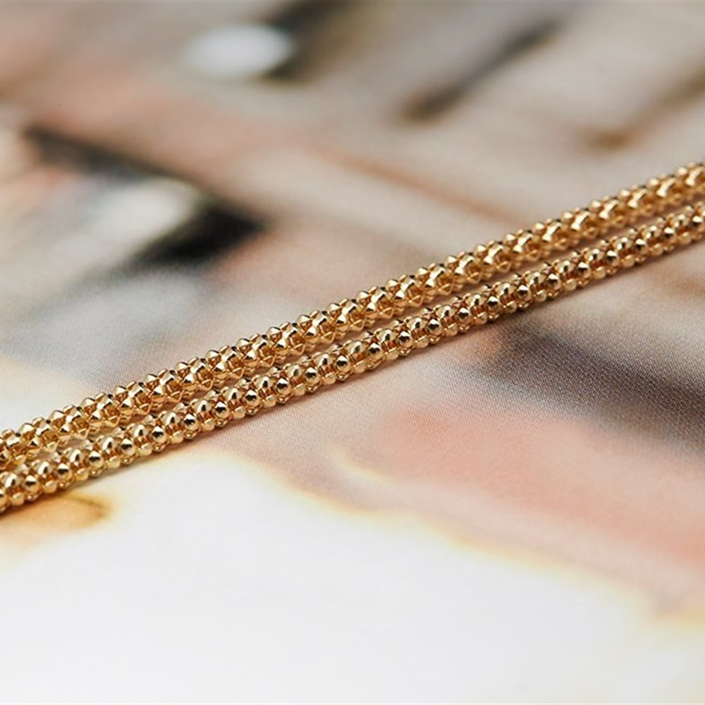Mappin & Webb 18K Yellow Gold Textured Chain Necklace