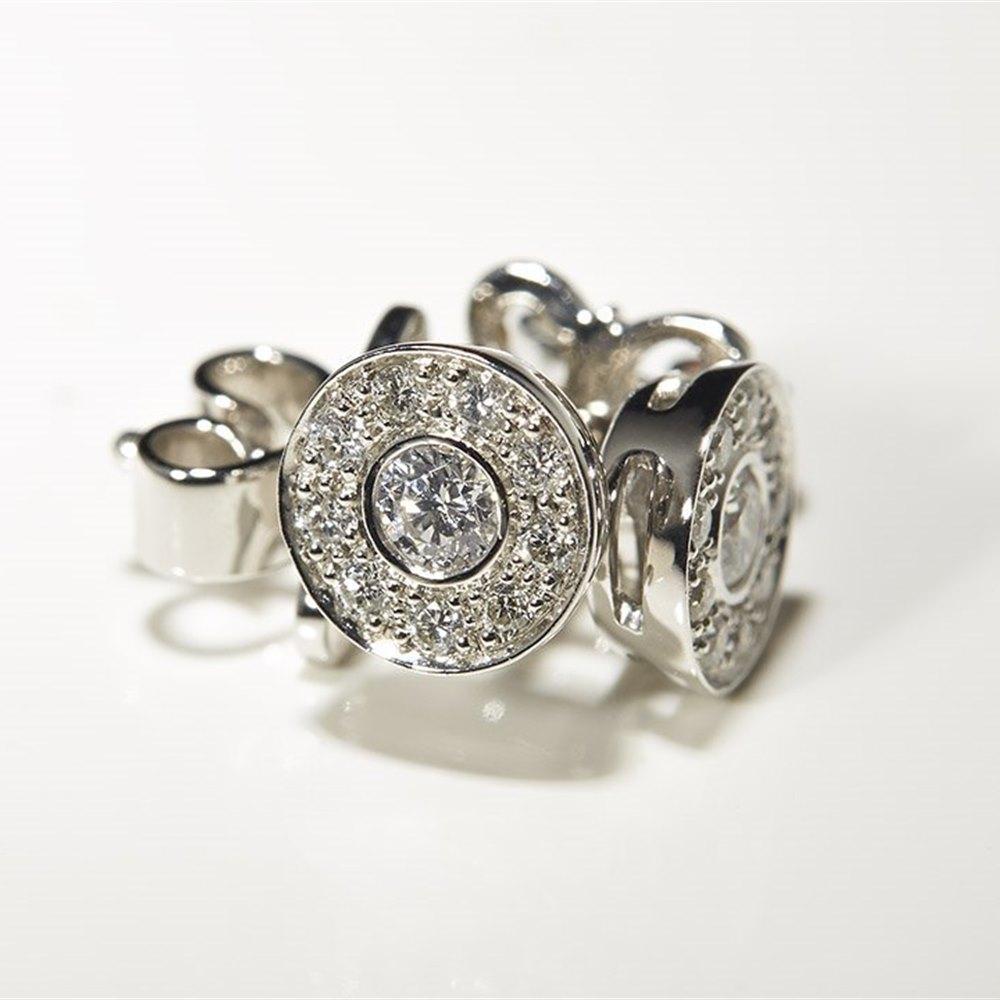 Mappin & Webb 18K White Gold 0.26cts Diamond Stud Earrings