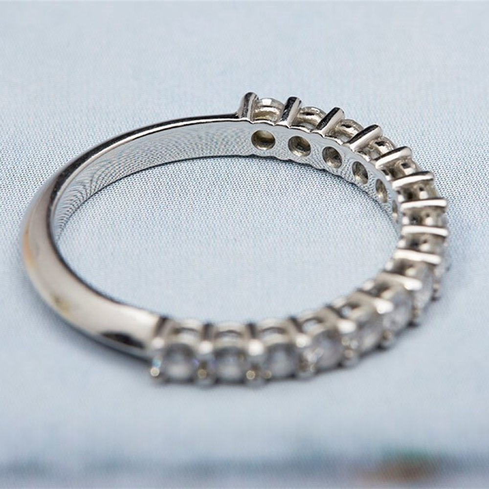 Platinum  Platinum Diamond 0.80cts Half Eternity Ring