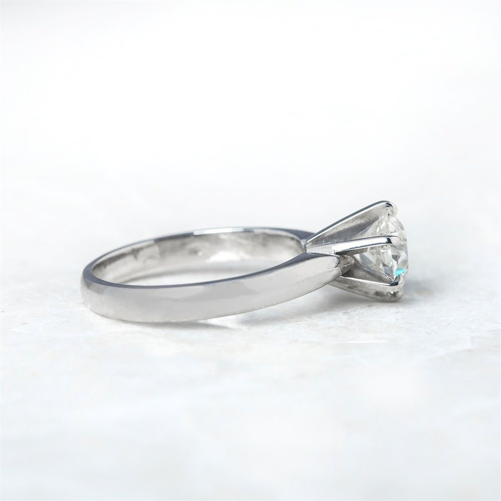 18k White Gold, total weight - 5.69 grams  18k White Gold Solitaire 1.35ct Round Brilliant Cut Diamond Ring