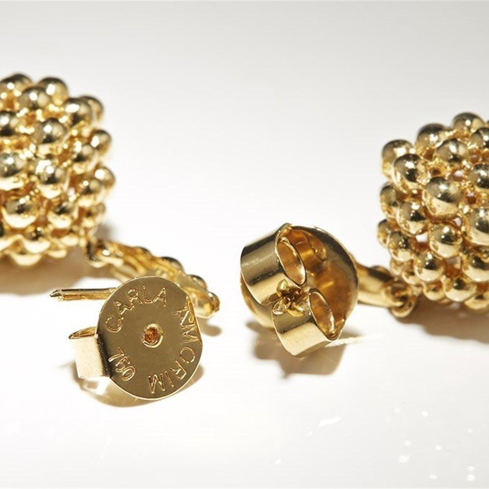 Carla Amorim 18K Yellow Gold Pretty Round Drop Earrings