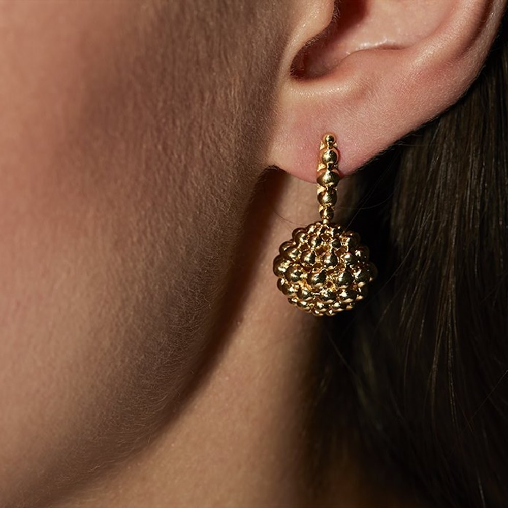 Carla Amorim 18K Yellow Gold Pretty Round Drop Earrings