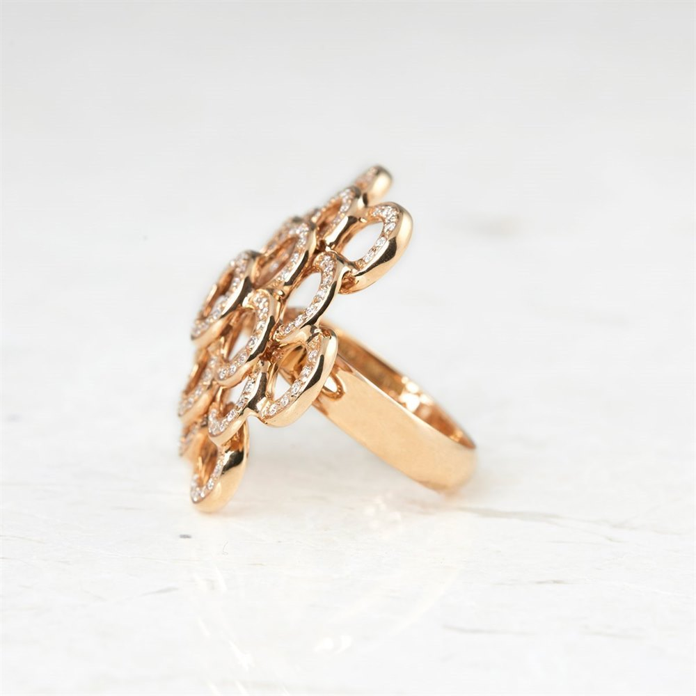 Carla Amorim 18k Rose Gold 0.73ct Pavé Diamond Ring