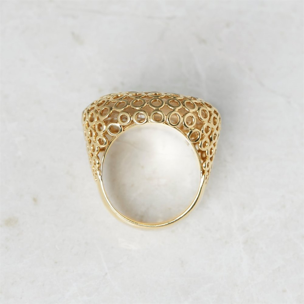 Carla Amorim 18k Yellow Gold Cabochon Clear Crystal Quartz Ring