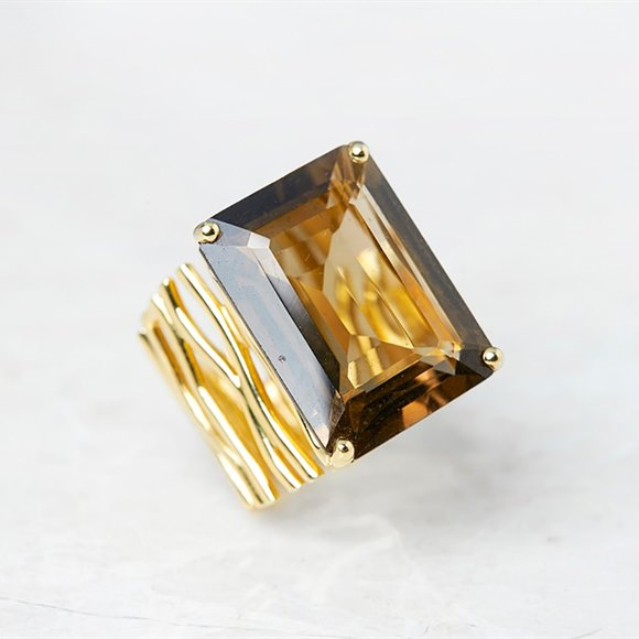 Carla Amorim 18k Yellow Gold Smoky Quartz Ring