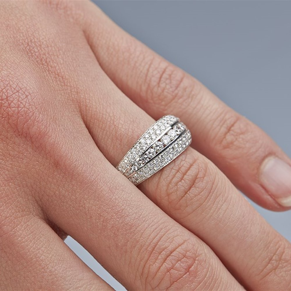 Mappin & Webb 18K White Gold 1.11cts Ringlet Diamond Ring