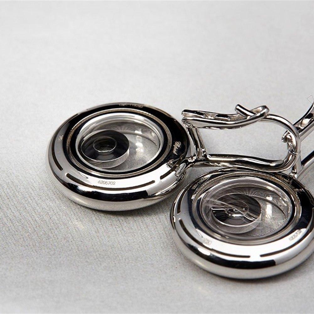 Chopard 18K White Gold Happy Diamonds 0.11cts Diamond Chopard Earrings