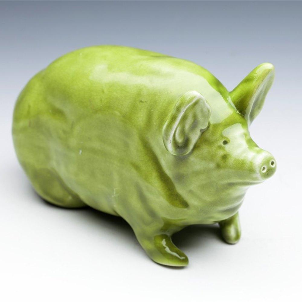 SCOTTISH WEMYSS GLAZED PIG Circa 1900